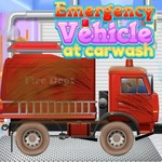 Emergency Vehicles At Car Wash