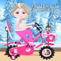 Frozen Elsa Bicycle Fun