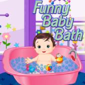 Funny Baby Bath