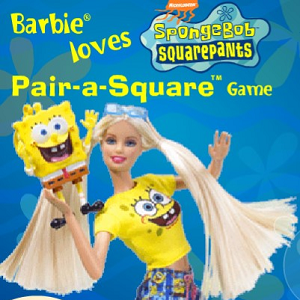 Barbie Loves Spongebob Squarepants Pair-a-Square