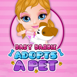 Baby Barbie Adopts A Pet