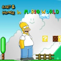Bart & Homer in Mario World
