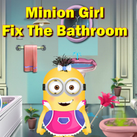 Minions Girl Fix The Bathroom