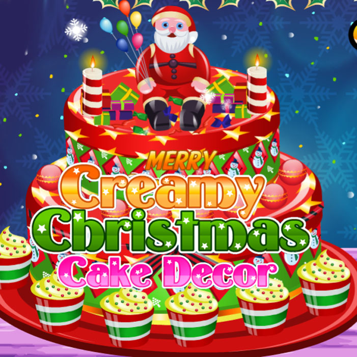 Creamy Christmas Cake Decor
