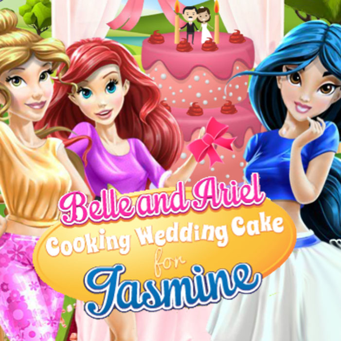 Belle And Ariel: Cooking Wedding Cake For Jasmine