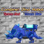 Combine! Dino Robot: Tyrano Red And Tricera Blue