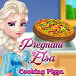 Pregnant Elsa: Cooking Pizza