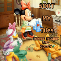 Sort My Tiles: Minnie Mouse and Goofy