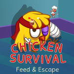 Chicken Survival: Feed & Survive