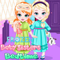Trendy gier,Frozen Baby Sisters Bedtime is a Dress Up game. You can play Frozen Baby Sisters Bedtime in your browser for free. It`s late at night, but Frozen baby sisters Elsa and Anna still don`t want to go to bed. Let`s help them with the bedtime routines. First select cute pajamas for baby sisters and help them dress up for bedtime. Do you love a unicorn onesie or an ice cream pattern two-piece? There are so many fun choices in the wardrobe! Then find all the objects in the room to make their bedtime easier. A bottle of warm milk always helps. Monster spray will make them feel safe at night. Don`t forget to play some gentle music and turn on the star lights. Have fun playing this Frozen Baby Sisters Bedtime game!  Use your mouse to play.