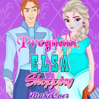 Pregnant Elsa Shopping Makeover