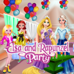 Elsa And Rapunzel Party