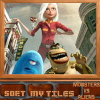 Sort My Tiles Monster Vs Aliens