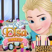 Now & Then Elsa Makeup