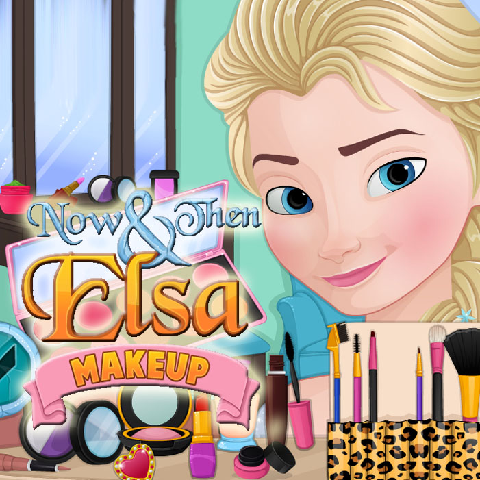 Now & Then Elsa Makeup