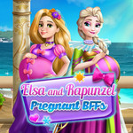 Elsa And Rapunzel Pregnant BFFs
