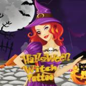 Halloween Witch Tattoo