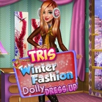 Tris Winter Fashion Dolly Dress Up