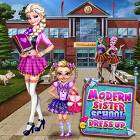 Modern Sister School Dress Up