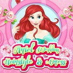 Ariel Wedding Hairstyle & Dress