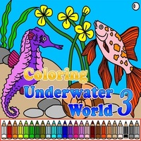 무료 온라인 게임, Coloring Underwater World 3 is one of the Coloring Games that you can play on UGameZone.com for free. This is the third game from a series of coloring games about the underwater world and fishes. Play coloring game Underwater world 3 with beautiful fishes and seahorse. Choose the free mode of the game and design colorful pictures as you like, or choose challenge mode and try to get five stars.