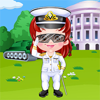 Baby Hazel Defense Officer Dress Up