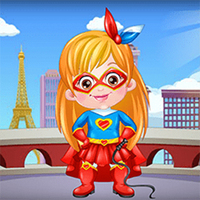 Baby Hazel Supergirl Dress Up